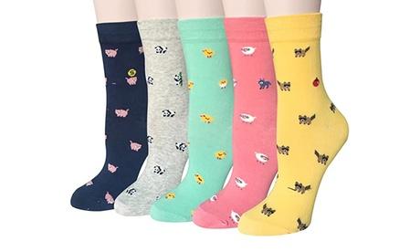 Hasta 10 pares de calcetines con dibujos de animales