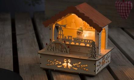 Lanterna LED in legno Konstsmide