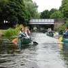 Canoeing Along The Union Canal