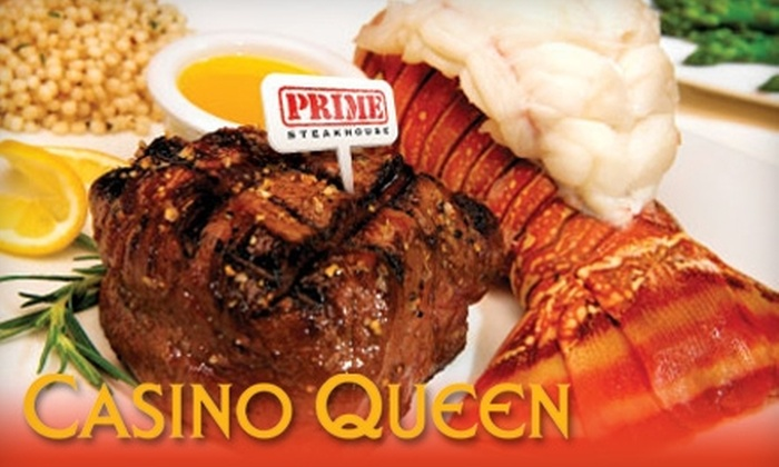 Casino Queen - East Saint Louis: $25 for $50 Worth of Fine Dining and Eligible $10 of Gaming at Casino Queen in East St. Louis