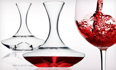 Groupon Goods - Easy-Pour Glass Decanter in
