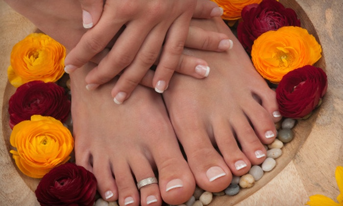 Roxie's The Spa at Riverwood - Riverwood Athletic Club: $40 for a Mani-Pedi with Mini Reflexology Massage at Roxie's The Spa at Riverwood in Clayton ($90 Value)