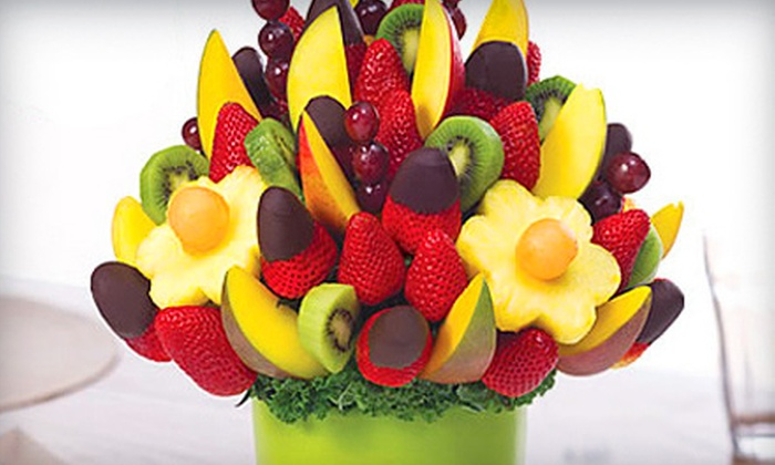 Edible Arrangements - White Oak: Dozen Chocolate-Dipped Strawberries or One Small Fruit Bouquet at Edible Arrangements in Silver Spring