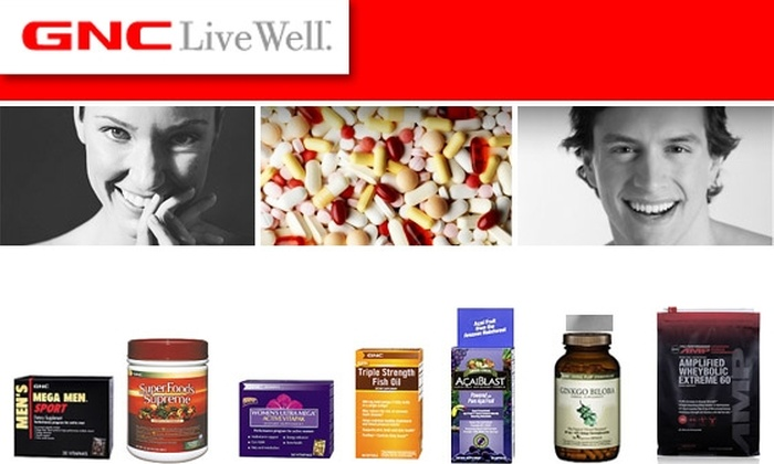 GNC - Chicago: $30 for $50 Worth of Vitamins, Mineral & Herbal Supplements, Sports Nutrition Products & More at Three GNC Locations