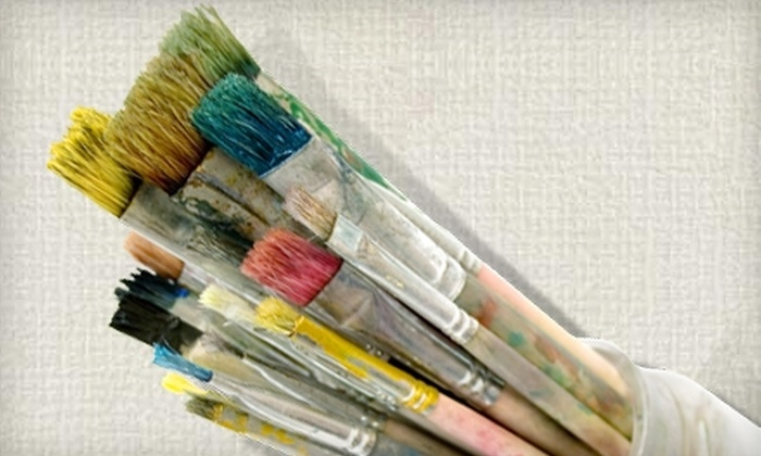 The Wine & Easel - Brentwood: Adult Painting Classes and Children's Art Camps at The Wine & Easel. Three Options Available.