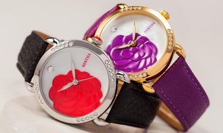 4fe15914d8d5 Reloj Bertha Gisele con correa de piel genuina para mujer