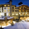 Mountain Resort Amid Snow-Covered Slopes