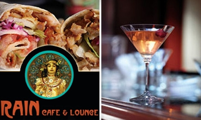 Rain Café and Lounge - Old Town: $10 for $20 Worth of Eclectic Pub Fare and Drinks at Rain Café and Lounge