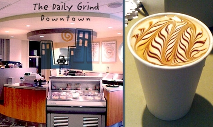 The Daily Grind Downtown - Riverside: $5 for $12 of Coffee and Café Fare at The Daily Grind Downtown