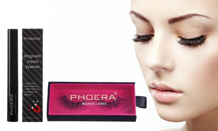 One or Two Sets of Phoera Magnetic Eyeliner and Eyelashes