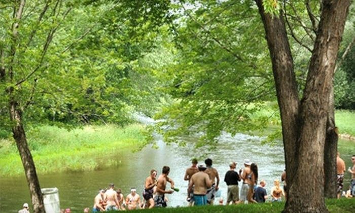 Apple River Hideaway - Somerset: Tubing or Tubing and Camping at Apple River Hideaway in Somerset
