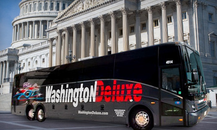 Washington Deluxe - Multiple Locations: One-Way or Round-Trip Bus Ticket Between Washington, DC and New York City from Washington Deluxe (Up to 48% Off)
