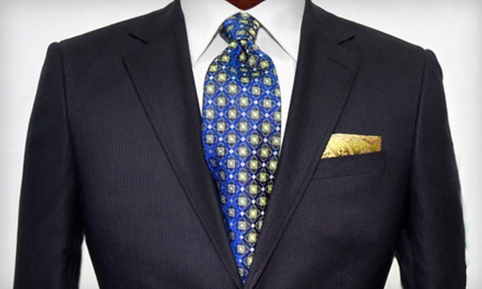 Brother's Tailors and Clothing Co. - Paradise Valley: $152 for Men's Designer-Suit Package with a Shirt and Tie at Brother's Tailors & Clothing Co. (Up to $319 Value)