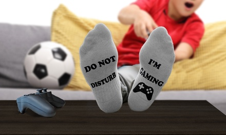 Do Not Disturb Im Gaming Socks