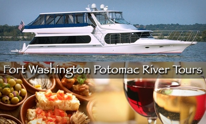 Fort Washington Potomac River Tours - Fort Washington: $49 for a Wine & Tapas Boat Cruise from Fort Washington Potomac River Tours ($100 Value)
