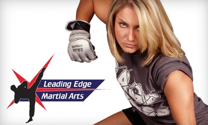 Leading Edge Martial Arts - Multiple Locations: $29 for 10 Fitness Classes ($75 Value) or $39 for One Month of Martial Arts Classes ($150 Value) at Leading Edge Martial Arts