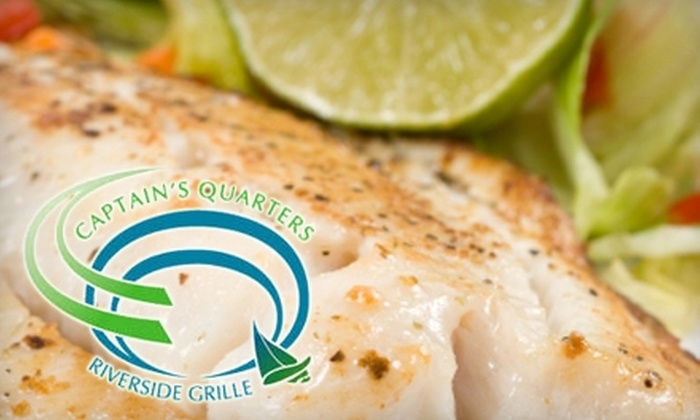 Captain's Quarters Riverside Grille - Prospect: $17 for $35 Worth of Seafood, Sandwiches, Drinks And More At Captain's Quarters Riverside Grille