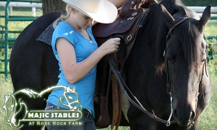 Majic Stables - Norman: $22 for a Private Horseback-Riding Lesson at Majic Stables (Up to $45 Value)