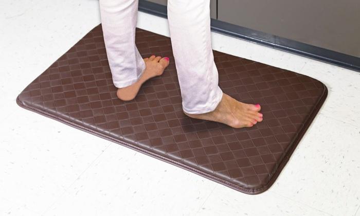Anti-Slip, Anti-Fatigue Memory Foam Kitchen Mat (2-Pack ...