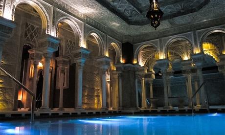Baño termal con opción a masaje relajante o con piedras de mármol para 2 personas desde 29,95 € en H2O Baños Árabes Oferta en Groupon