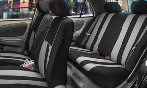 Universal-Fit and Airbag Compatible Striped Seat Cover Set (9-Piece)