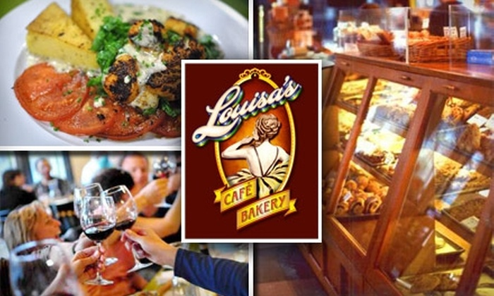Louisa's Café & Bakery - Eastlake: $15 for $30 Worth of Creative American Dinner Fare and Drinks at Louisa's Café and Bakery