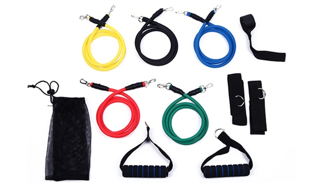 11 Piece Resistance Band Set: One ($19) or Two ($35)