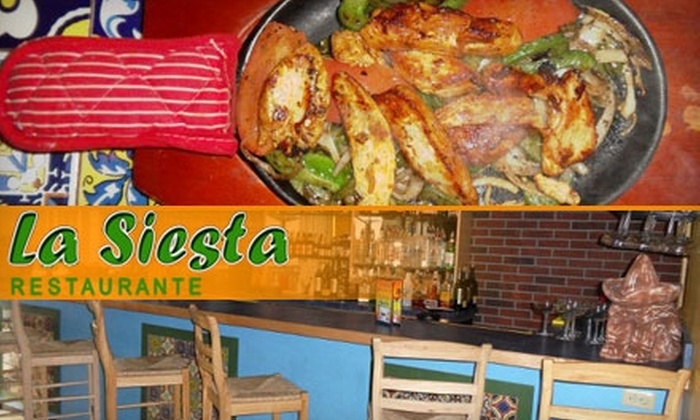 La Siesta - Winthrop: $15 for $35 Worth of Authentic Mexican Cuisine and Drinks at La Siesta in Winthrop