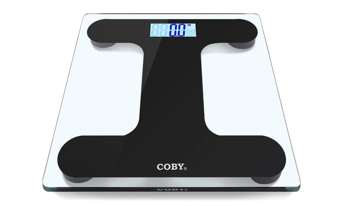 Coby Bluetooth Tempered Gl Digital Bathroom Scale With Bmi Function
