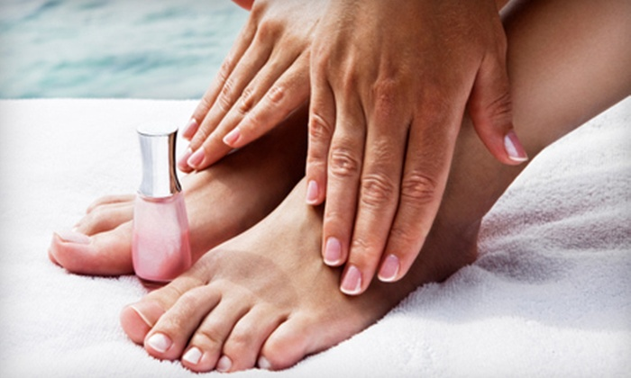 On the Cutting Edge - Equestrian Downs: $22 for a Mani-Pedi and Moisturizing Hand Wrap at On the Cutting Edge in Hemet ($45 Value)