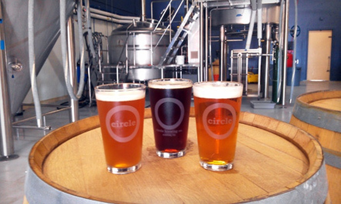 Circle Brewing Company - North Austin,North Burnet: Brewery-Tour Package for Two or Four on February 18 or 19 at Circle Brewing Company (Up to 55% Off)