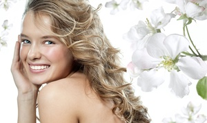 Geena Moon Salon: One Haircut with Wash, Style, and Option of Partial Highlights at Geena Moon Salon (Up to 71% Off)
