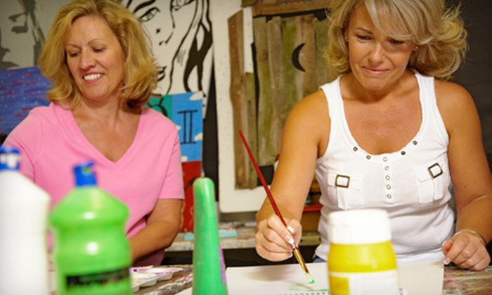 Frog and Lilly Boutique - Byram: Two-Hour BYOB Painting Class for One, Two, or Three at Frog and Lilly Boutique (Up to 62% Off)