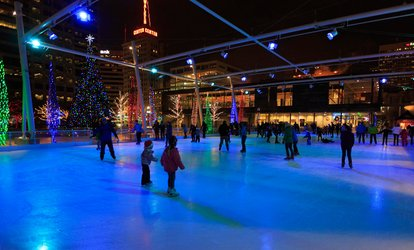 image for Ice Skating for Two or Four at The Gallivan Center (Up to 50% Off). Six Options Available.
