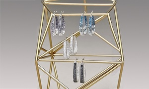 Inside Out Swarovski Crystal Hoops and 2.00 CTTW Studs by Mina Bloom