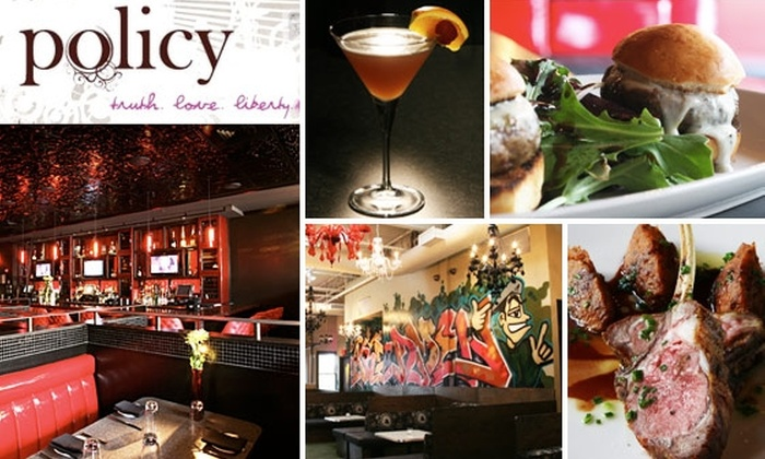 Policy - U Street - Cardozo: $20 for $45 Worth of Seasonal Cuisine and Drinks at Policy