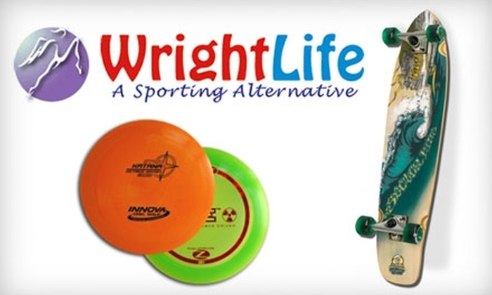 The Wright Life - Downtown Fort Collins: $25 for $50 Worth of Skate and Frisbee-Golf Gear at The Wright Life in Fort Collins