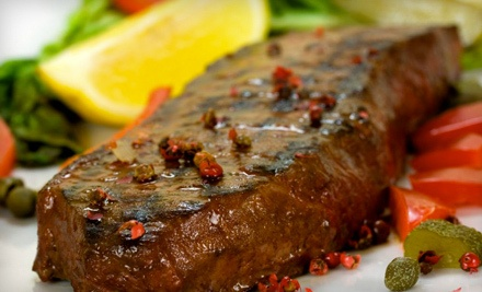 $65 Groupon for Steakhouse Fare and Non-Alcoholic Drinks Sunday-Thursday - Myron's Prime Steakhouse in San Antonio