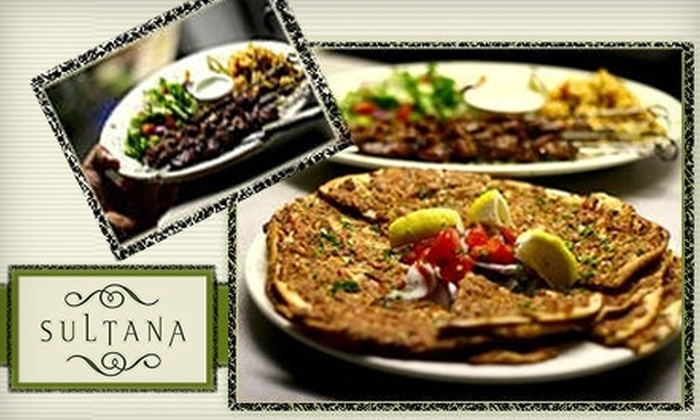 Sultana - Downtown Menlo Park: $15 for $30 Worth of Greek-Turkish Fusion Fare at Sultana in Menlo Park