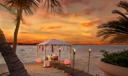 Romantic Dinner on the Beach with Drinks and Cake at La Piscine Pool Bar & Restaurant at Al Raha Beach Hotel (50% Off)