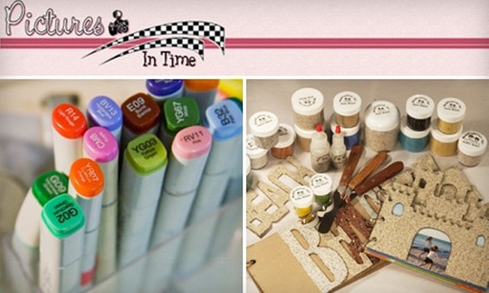 Pictures In Time - Orange Park: $10 for $20 Worth of Scrapbook and Card Making Supplies at Pictures In Time