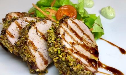 Menu di carne con sorbetto e vino a 29,90€euro