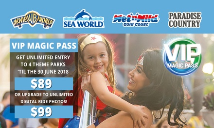 4 Park Magic Pass, Movie World, Wet'N'Wild, Sea World, Paradise Country