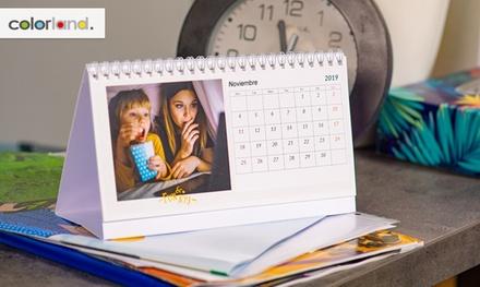 1, 2, 5 o 10 foto-calendarios de mesa con imágenes personalizables en Colorland (ES) (hasta 85% de descuento)