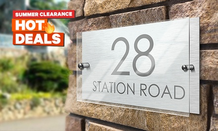 Personalised House Sign: Standard $19 or Premium with Acrylic Front $25 Don't Pay up to $49