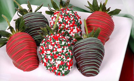 One Dozen Chocolate-Covered Strawberries or Pretzel Rods from Just Like Nanny's Dessert & Confections (Up to 53% Off)