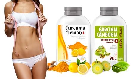150, 300, 450, 600 oder 1200 Kurkuma & Zitrone+ und Garcinia Cambogia Gewichtsmanagement Kapseln