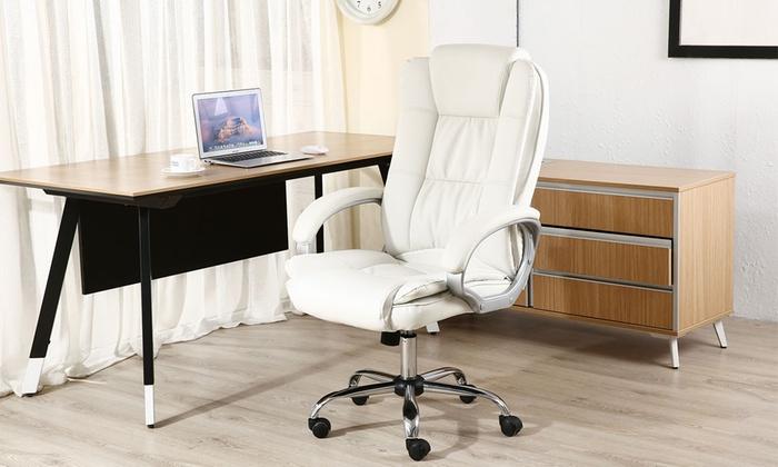 Poltrona Ufficio Bianco : Poltrona da ufficio karen groupon goods