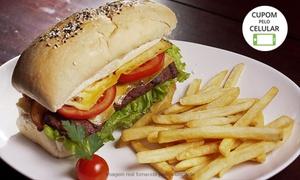 Poial Tropeiro: Poial Tropeiro – Glória: hambúrguer de picanha grelhado e fritas para 1, 2 ou 4 pessoas