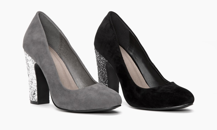 Sociology Women's Glitter Party Pump   Groupon Exclusive